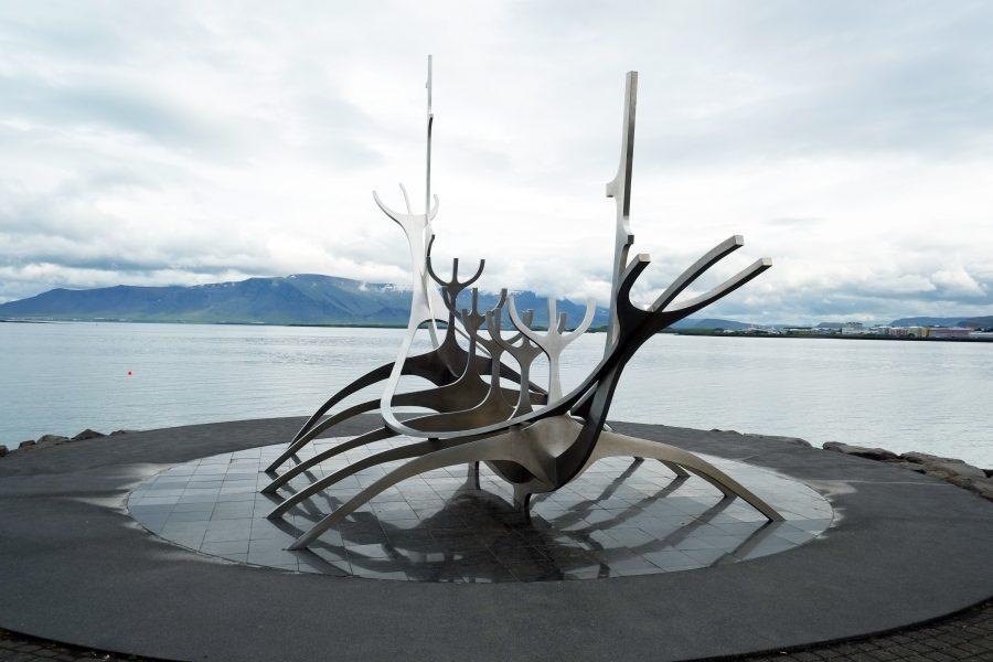 Walfisch Skulptur Island