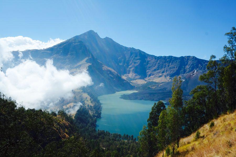 Blick auf Gipfel des Vulkans Rinjani