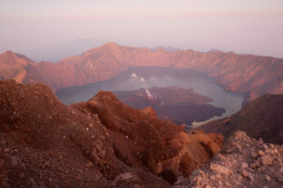 Dampfender Vulkan Rinjani Lombok