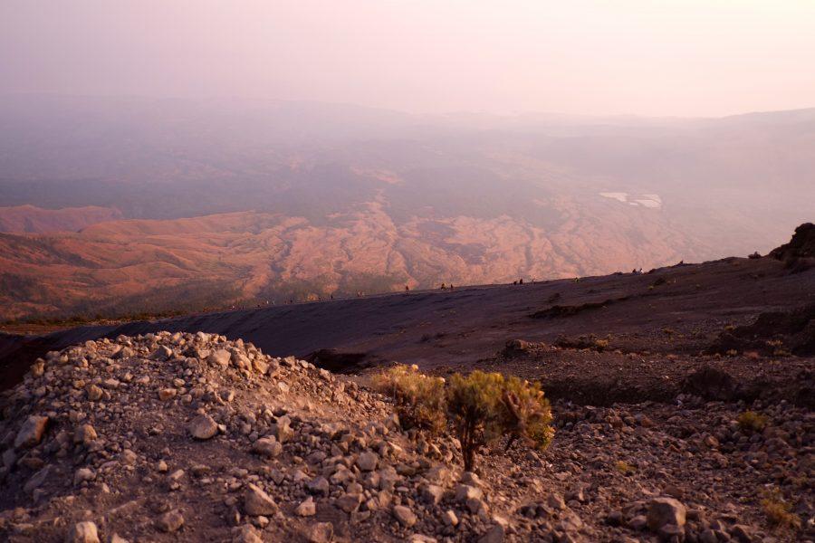Aufstieg vor Sonnenaufgang zum Vulkan Rinjani
