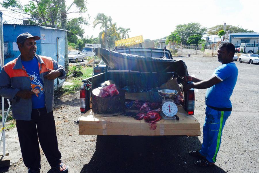 Fleischverkäufer Pick Up
