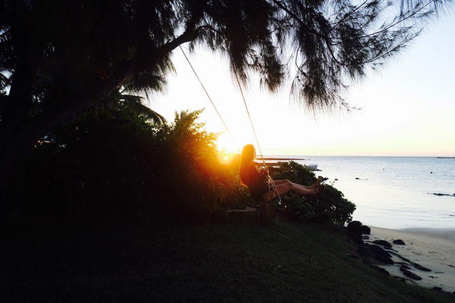 Schaukel Sonnenuntergang