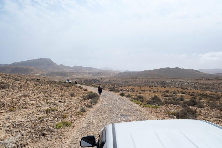 Einsame Straße Boa Vista Kap Verden