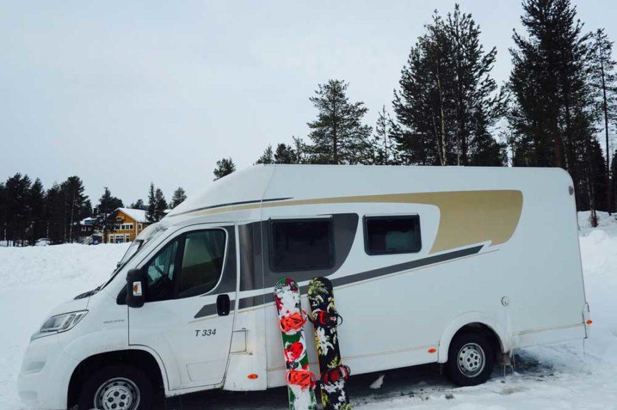 Winter Campen Wohnmobil