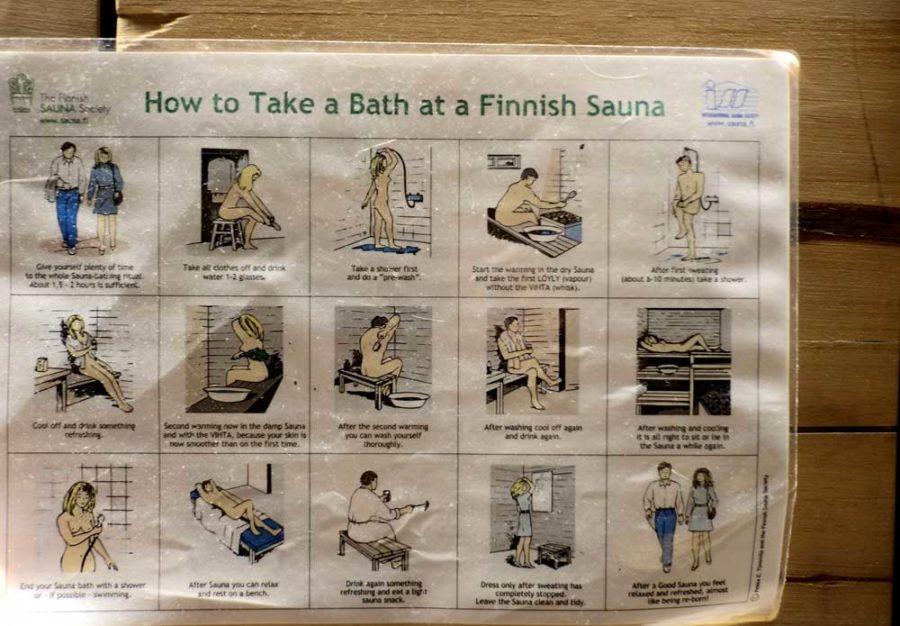 Sauna in Finnland Anleitung