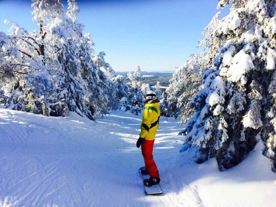 Levi Finnland Snowboarden