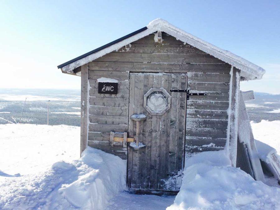 Finnische Hütten Skigebiete