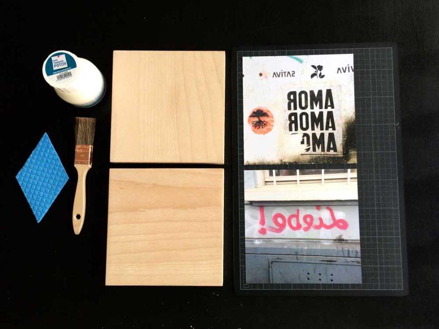 Fotos auf Holz kopieren