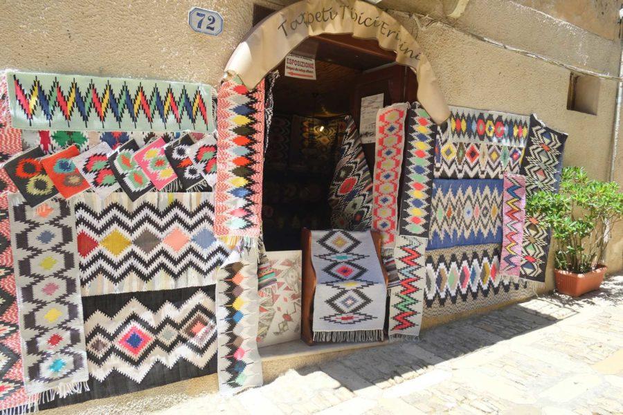 Teppich Handwerk Erice Sizilien
